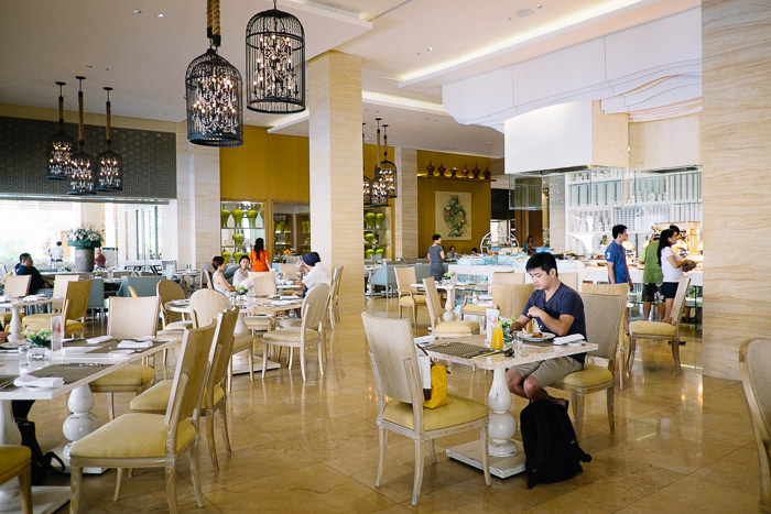 """buffet lunch at """"the cafe"""", mulia, bali"""