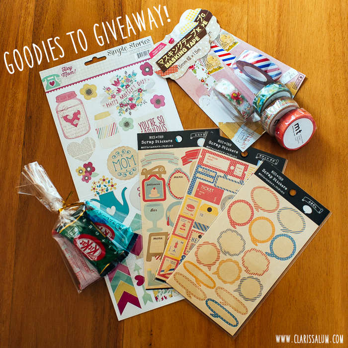 I've got goodies to giveaway!